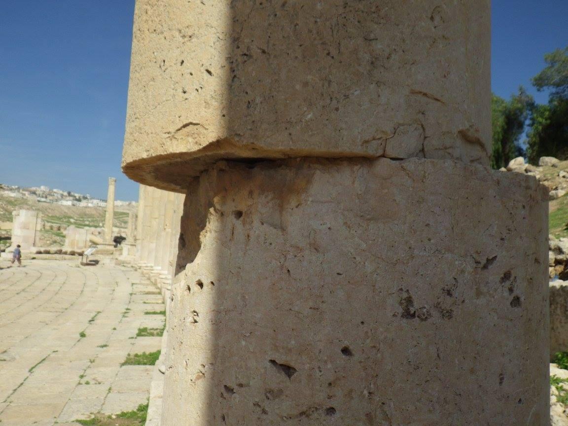 Displaced Columns at Jerash