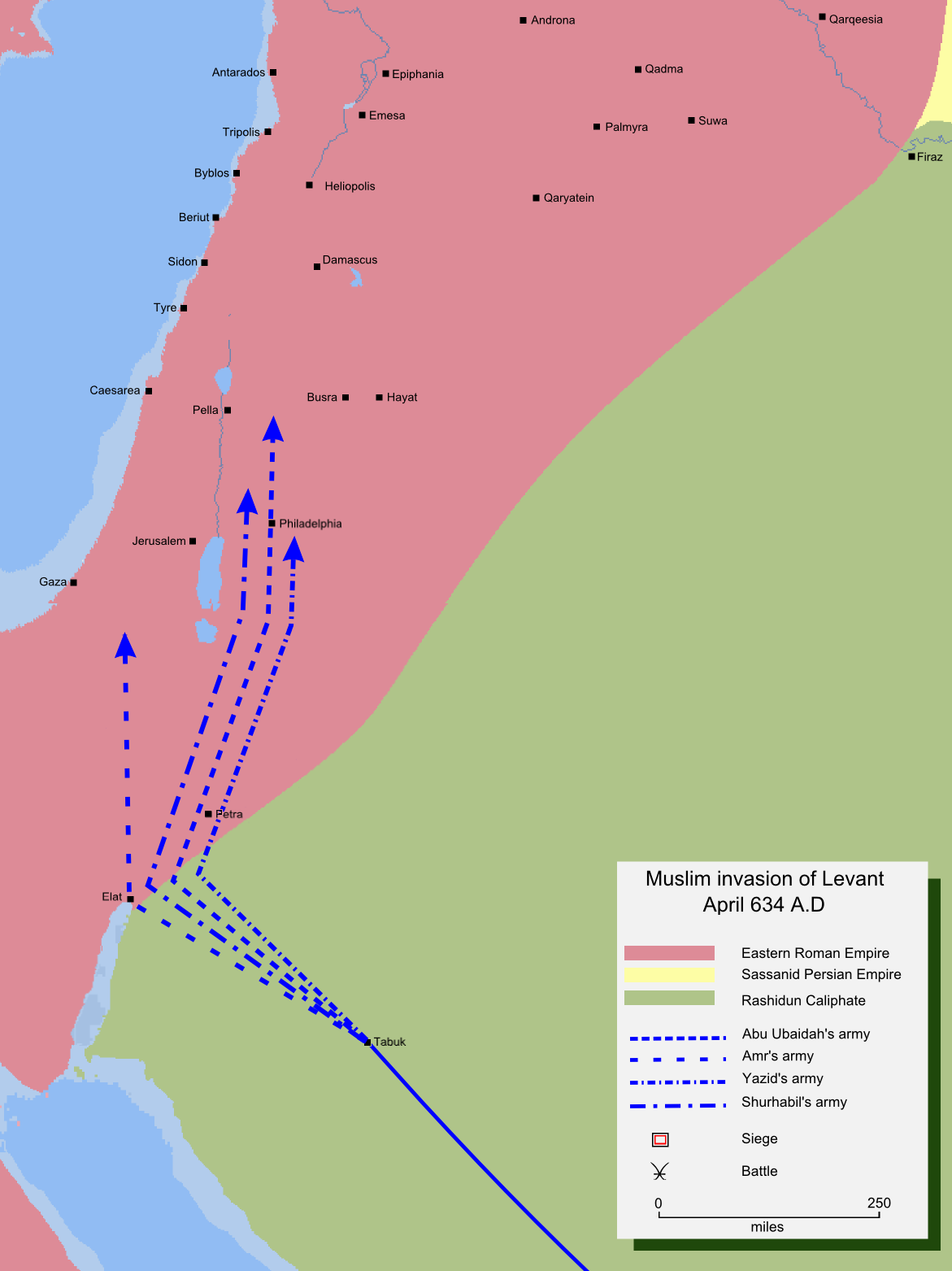 Muslim Invasion of Greater Syria