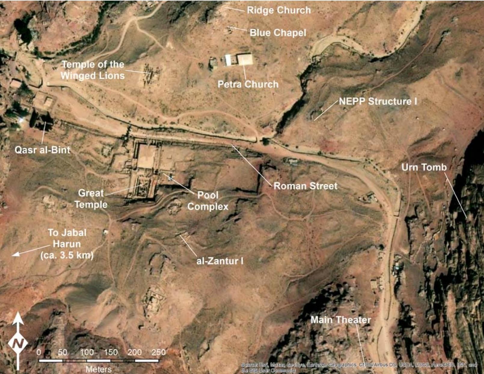 Major Excavations in Petra